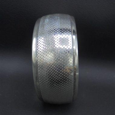 bracelet rond metal couleur argent