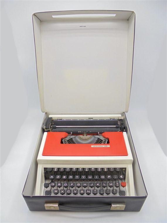 machine a ecrire vintage provelec 315 rouge