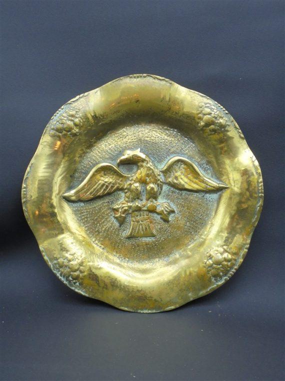 assiette bronze dore aigle imperial