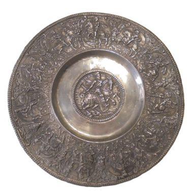 assiette patene etain de Nuremberg assiette Ferdinand II