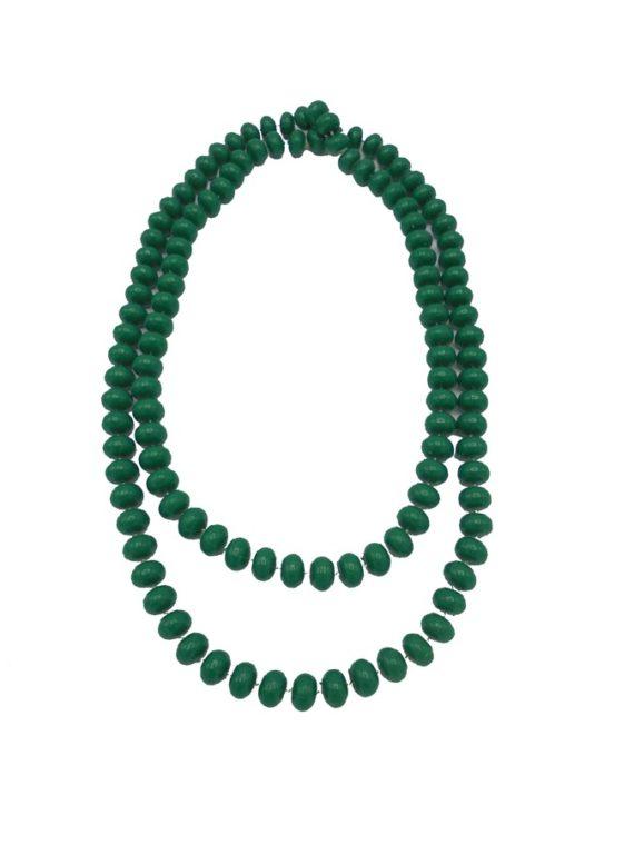 grand collier vintage en plastique vert