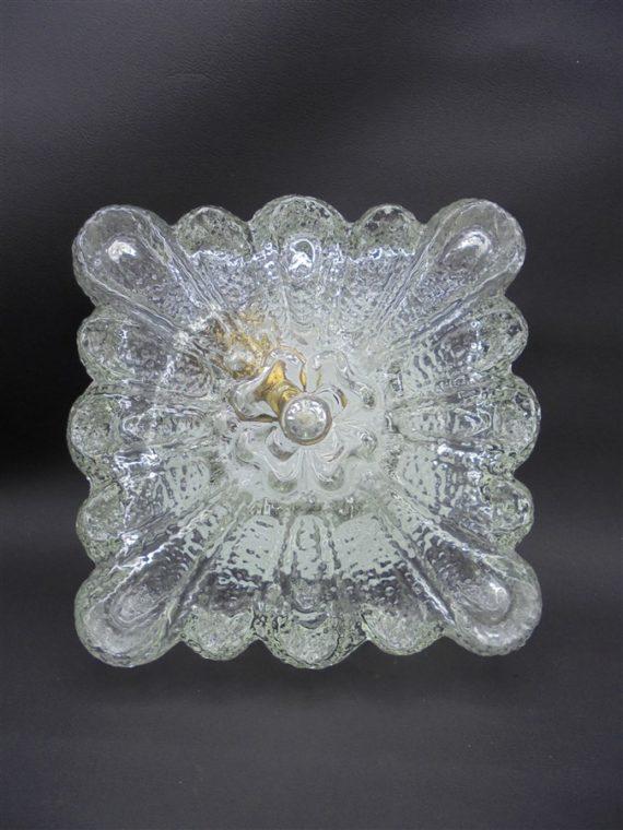 luminaire plafonnier applique vintage verre rond floral