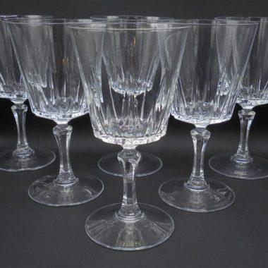 service 6 verres a pied en cristal