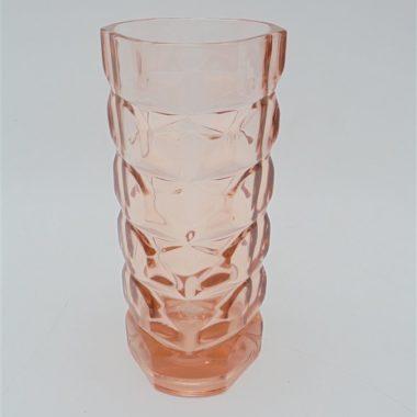 vase vintage verre rose