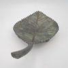 vide poche coupelle feuille laiton effet patine
