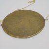 ancien miroir ovale biseaute contour laiton chainette