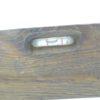 ancien niveau a bulles bois et laiton bricolage