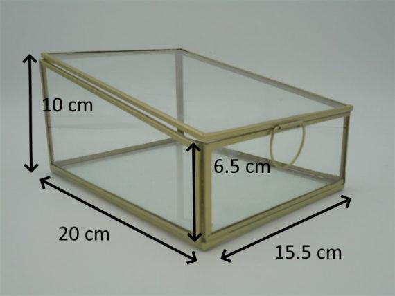 boite verre metal dore laiton bijoux tresors collection