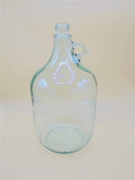 bonbonne dame jeanne verre transparent 5 litres