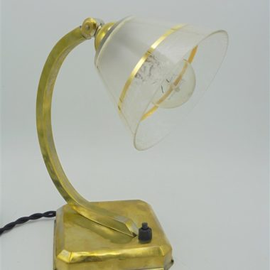 lampe laiton abat jour verre conique inclinable