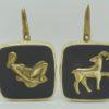 pateres vintage annees 60 laiton signes zodiaque vierge belier