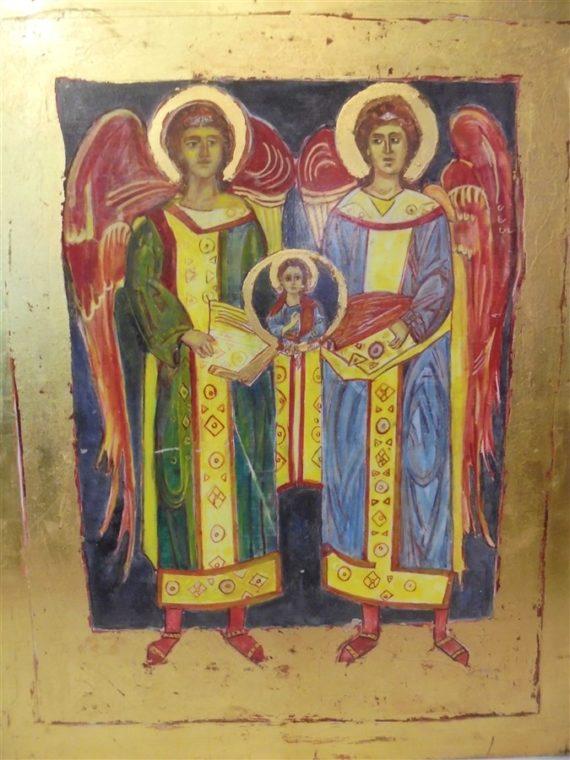 Peinture Concile des archanges Michel et Gabriel icones