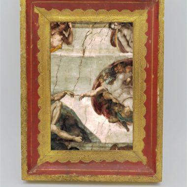 cadre photo florentin bois or et rouge