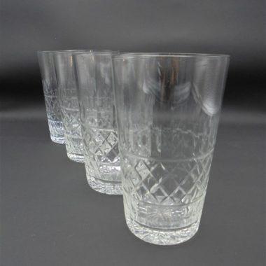 gobelets verres eau champagne verre ou cristal cisele