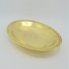 ancien plat de service ovale creux plaquage or