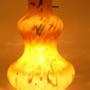 suspension vintage retro luminaire lampe verre ambre mouchete
