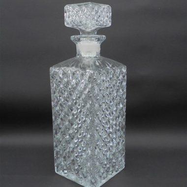 ancienne carafe a whisky carree en verre