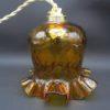 suspension vintage tulipe en verre ambre