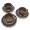 tasses a cafe expresso en gres couleur marron chocolat