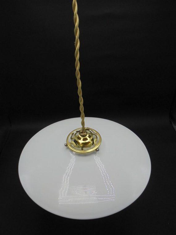 ancienne suspension en opaline luminaire