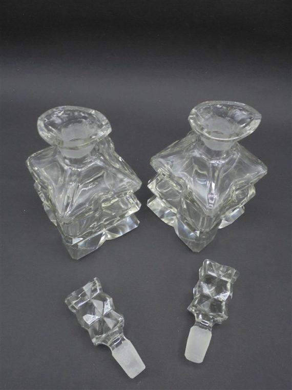 duo flacons verres style art deco