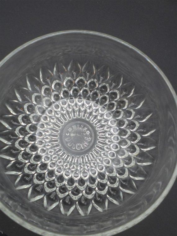 ramequins coupelles verre transparent vintage huile dulcine