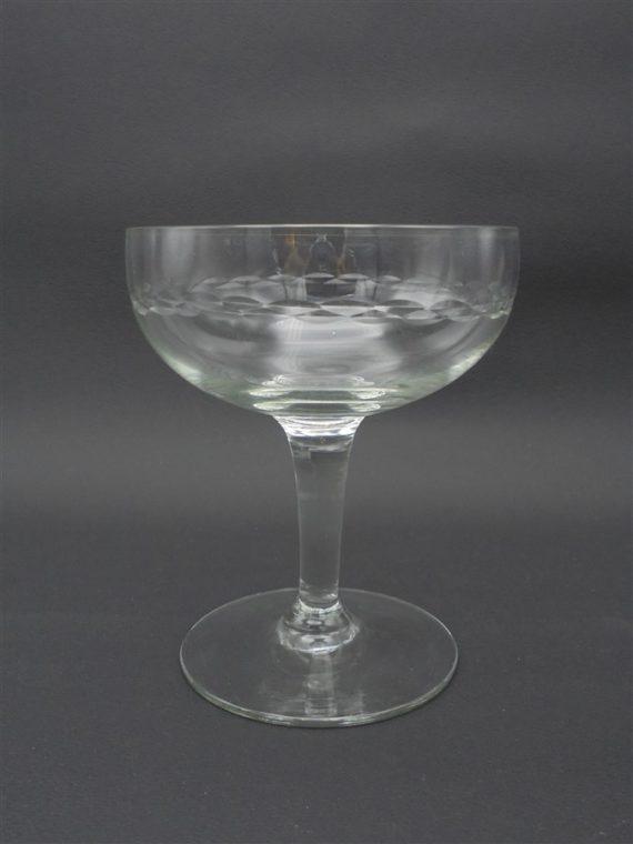 anciennes coupes a champagne verre cisele