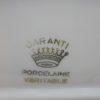 ancien ravier porcelaine decor romantique