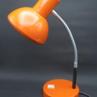 lampe de bureau vintage metal orange