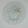 plafonnier applique luminaire vintage rond verre transparent pics pointes