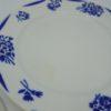 assiettes plates anciennes decor floral bleu