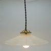 suspension opaline blanche luminaire ancien brocante