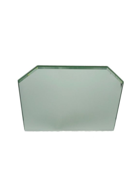 ancien miroir glace de salle de bain chanfreine biseaute pans coupes argenture plastifiee