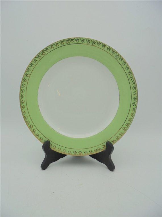 ancienne assiette st amand l amandinoise vert anis
