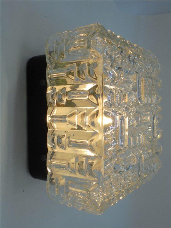 plafonnier vintage design carre motifs geometrique