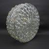 plafonnier vintage rond verre transparent