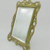 ancien miroir biseaute contour dore laiton idee cadeau