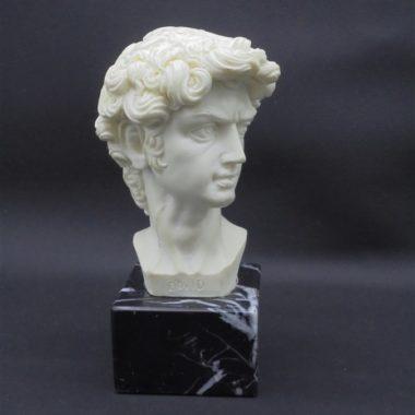buste david resine sur socle marbre