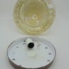 plafonnier vintage verre fume rond bombe pics