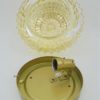 plafonnier vintage verre or irise rond bombe