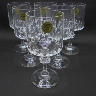 verres a pied cristal d arques modele vendome