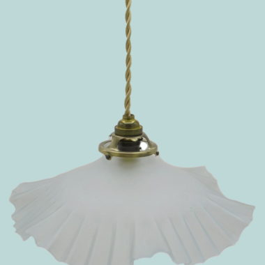 ancienne suspension effet drape blanche