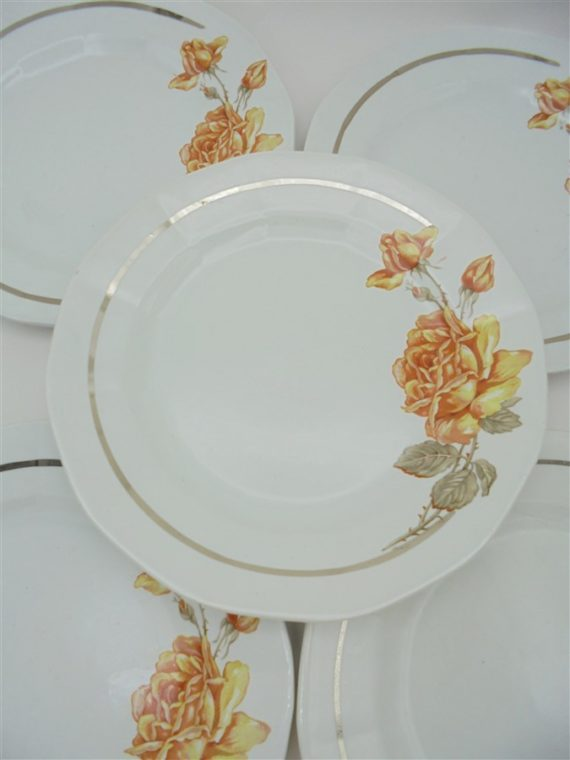 assiettes dessert anciennes ceranord st amand rose the niger deco shabby chic
