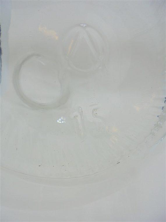 ancienne bonbonne dame jeanne 15 litres verre transparent grand col