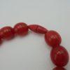 collier vintage perles plastique rouge
