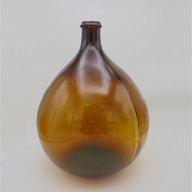 dame jeanne ancienne bonbonne vintage verre ambre brun marron 10 litres