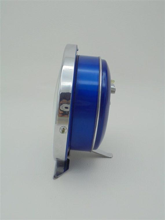 reveil vintage diamond made in china metal bleu turquoise et chrome brocante