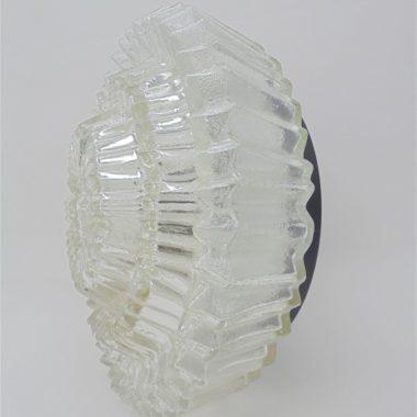 ancien plafonnier verre epais de qualite forme originale