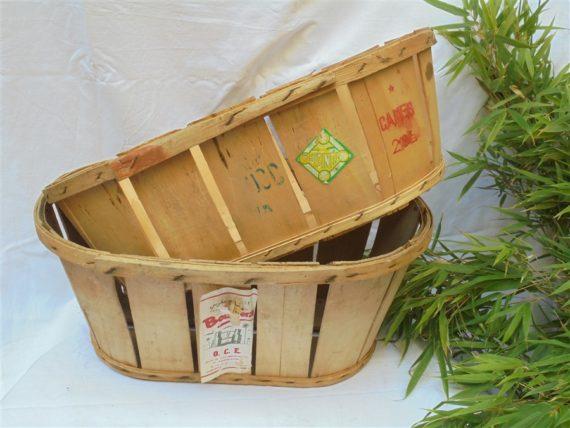 ancienne cagette caisse caissette panier fruits legumes en bois idee deco noel