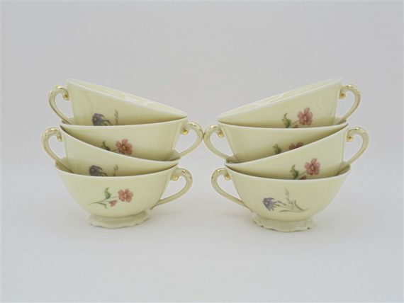 tasses cafe the porcelaine decor floral ancienne fabrique royale limoges france idee cadeau noel